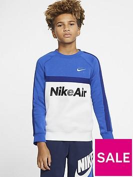 nike-sportswear-air-older-boys-crew-neck-sweatshirt-bluewhite