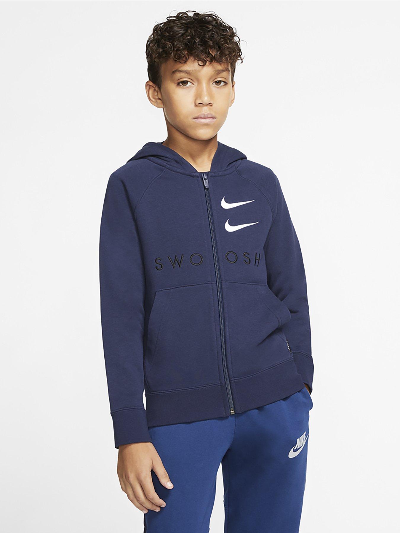 Adidas Boys Junior Kids Full Fleece Hoodie Age 5-16 Core 18 Black Red Navy Gray