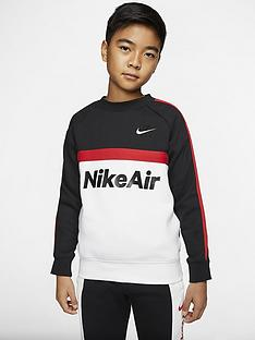 nike-sportswear-air-older-boys-crew-neck-sweat-top-blackred