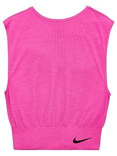 nike-older-girls-seamless-reversible-training-t-shirt-pink