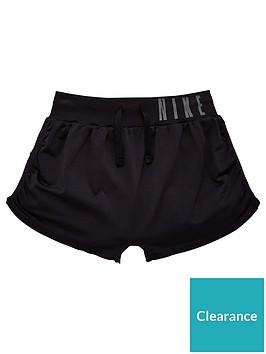 nike-older-girls-seamless-reversible-training-shorts-black