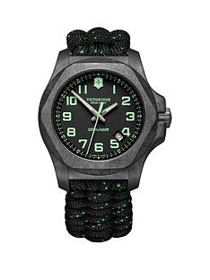 victorinox-victorinox-swiss-made-inox-200m-grey-carbon-sapphire-glass-luminova-43mm-date-dial-grey-green-tracer-paracord-strap-watch-extra-strap-bumper-set