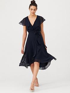 v-by-very-nova-cape-wrap-dress-dark-navy