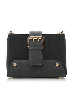 dune-london-ducklie-small-buckle-shoulder-bag-black