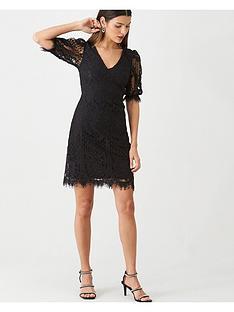 v-by-very-v-neck-floral-lace-dress-black
