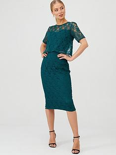 v-by-very-floral-lace-overlay-pencil-dress-green
