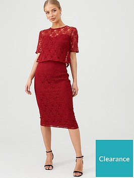 v-by-very-floral-lace-overlay-pencil-dress-burgundy