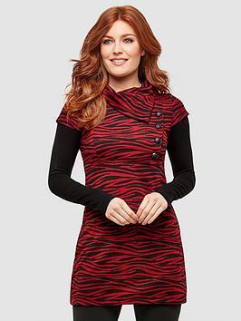 joe-browns-red-zebra-tunic-print