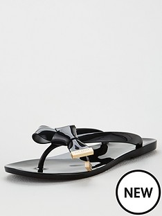 ted-baker-luzzi-origami-bow-flip-flops-black