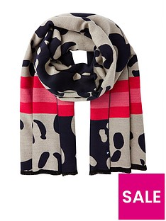 joules-jacquelyn-jacquard-scarf-navy