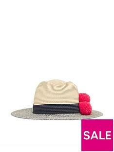 joules-dora-pom-fedora-hat-navy