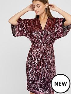 monsoon-samba-sequin-twist-short-dress-pink