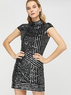 monsoon-brienne-linear-embellished-tunic-dress-silver