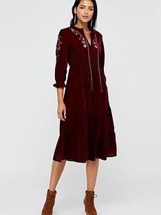 monsoon-monsoon-vivi-velvet-embroidered-midi-dress