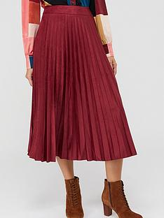 monsoon-sammy-suedette-pleated-skirt