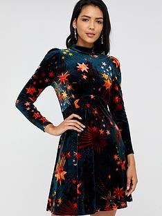 monsoon-starlet-print-velvet-dress