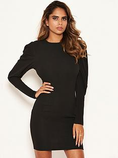 ax-paris-puff-sleeved-bodycon-dress-black