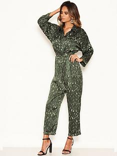 ax-paris-printed-satin-utility-jumpsuit-green