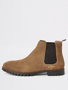 river-island-brown-suede-chelsea-boots