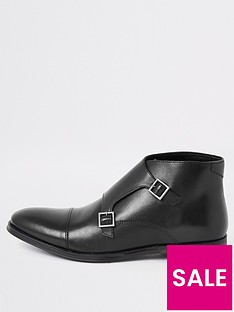 river-island-black-leather-monk-strap-boot