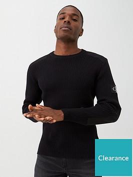 calvin-klein-jeans-monogram-sleeve-badge-sweatshirt-black