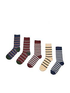 burton-menswear-london-burton-5-pack-coloured-striped-socks