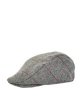 burton-menswear-london-burton-herringbone-overcheck-flat-cap