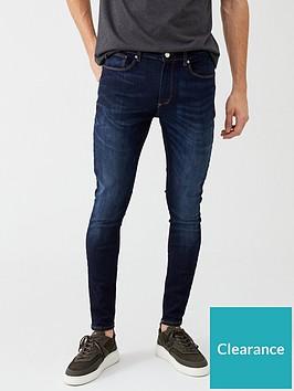river-island-dark-blue-ollie-skinny-spray-on-jeans