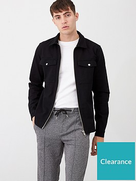 river-island-black-zip-front-regular-fit-denim-overshirt