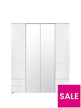 sleek-4-doornbsp4-drawer-wardrobe