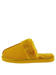 accessorize-real-suede-mule-slipper-ochre