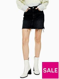 topshop-denim-mini-skirt-black