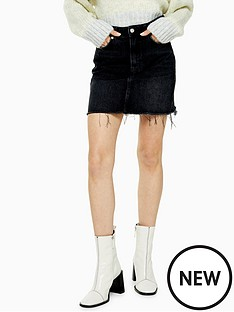 topshop-topshop-denim-mini-skirt-black