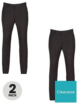 very-man-2-pack-skinny-trousers-black