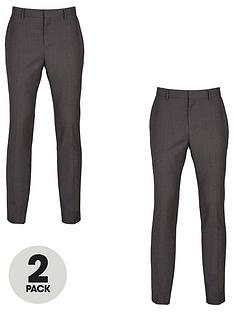 v-by-very-2-pack-slim-trousers-grey