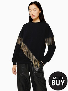 topshop-topshop-chain-fringe-sweat-top-black