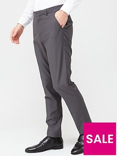 prod1089334435: StretchRegular Suit Trousers - Grey