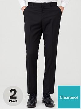 very-man-2-pack-slim-trousers-black