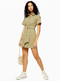 topshop-topshop-utility-mini-dress-khaki