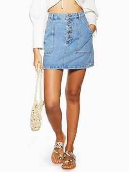topshop-button-utility-skirt-blue