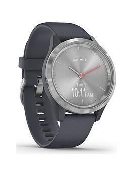 garmin-vivomove-3s-hybrid-smartwatch-granite-blue-silicone-strap-with-silver-hardware