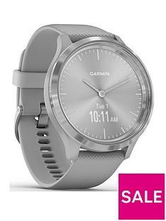 garmin-vivomove-3-hybrid-smartwatch-powder-grey-silicone-strap-with-silver-hardware
