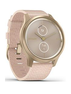 garmin-vivomove-style-hybrid-smartwatch-blush-pink-nylon-with-light-gold-hardware