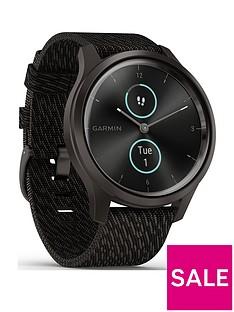 garmin-vivomove-style-hybrid-smartwatch-black-pepper-nylon-with-slate-hardware