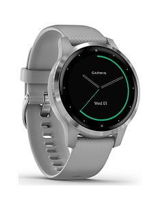 garmin-viacutevoactive-4s-smaller-sized-gps-smartwatch-features-music-body-energy-monitoring-animated-workouts-pulse-ox-sensors-and-more-powder-graysilver