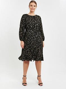 evans-black-sparkle-printed-boho-dress