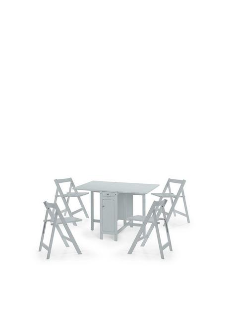 julian-bowen-savoy-120-cm-space-saver-dining-table-4-chairs-grey