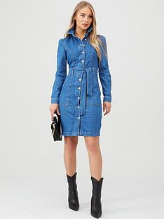 v-by-very-belted-denim-midi-dress-mid-wash