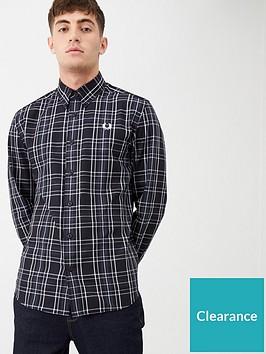 fred-perry-tonal-check-shirt-blackwhite