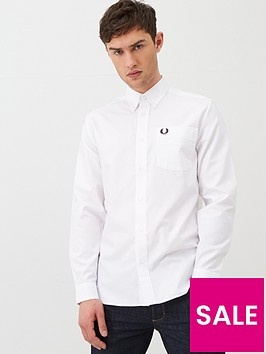 fred-perry-long-sleeved-oxford-shirt-white